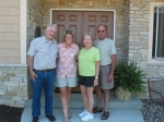Richard Grundgeiger, Debbie (Mason) Grundgeiger and Mary Strout and her husband Tom.  Mary and Tom came to Black Earth,