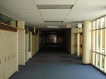Marshal's visit to GBS in the summer of 2008.   This is one of the familiar corridors in the Lake Ave. wing. They've a