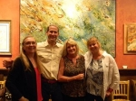 Jenny Scalbom, Jon Barth, Kathy Lewis, Jude Kitts at Jude's Art Opening Reception August 22, 2013 in Glenview.