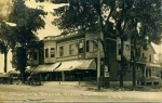 Very old picture of Rugen Stores.  Notice the car out front and the house at the rear of the store before it was convert