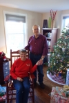 Diane Krall Garvens and her husband, Bill, on Christmas 2016