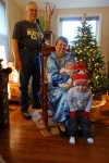 Diane Krall Garvens and her husband Bill, grandsons Will (2.5 yrs) and Atticus (1 month), 2016